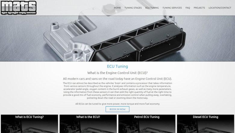 MATuning Services Website Design 4