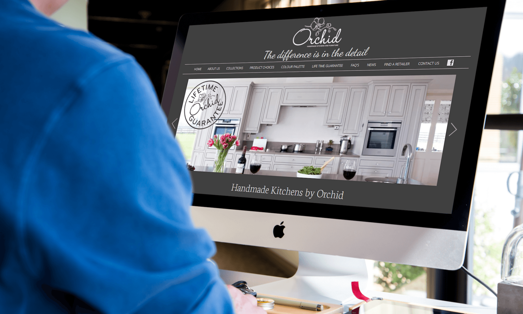image of freelance web design project in bristol orchid kitchens