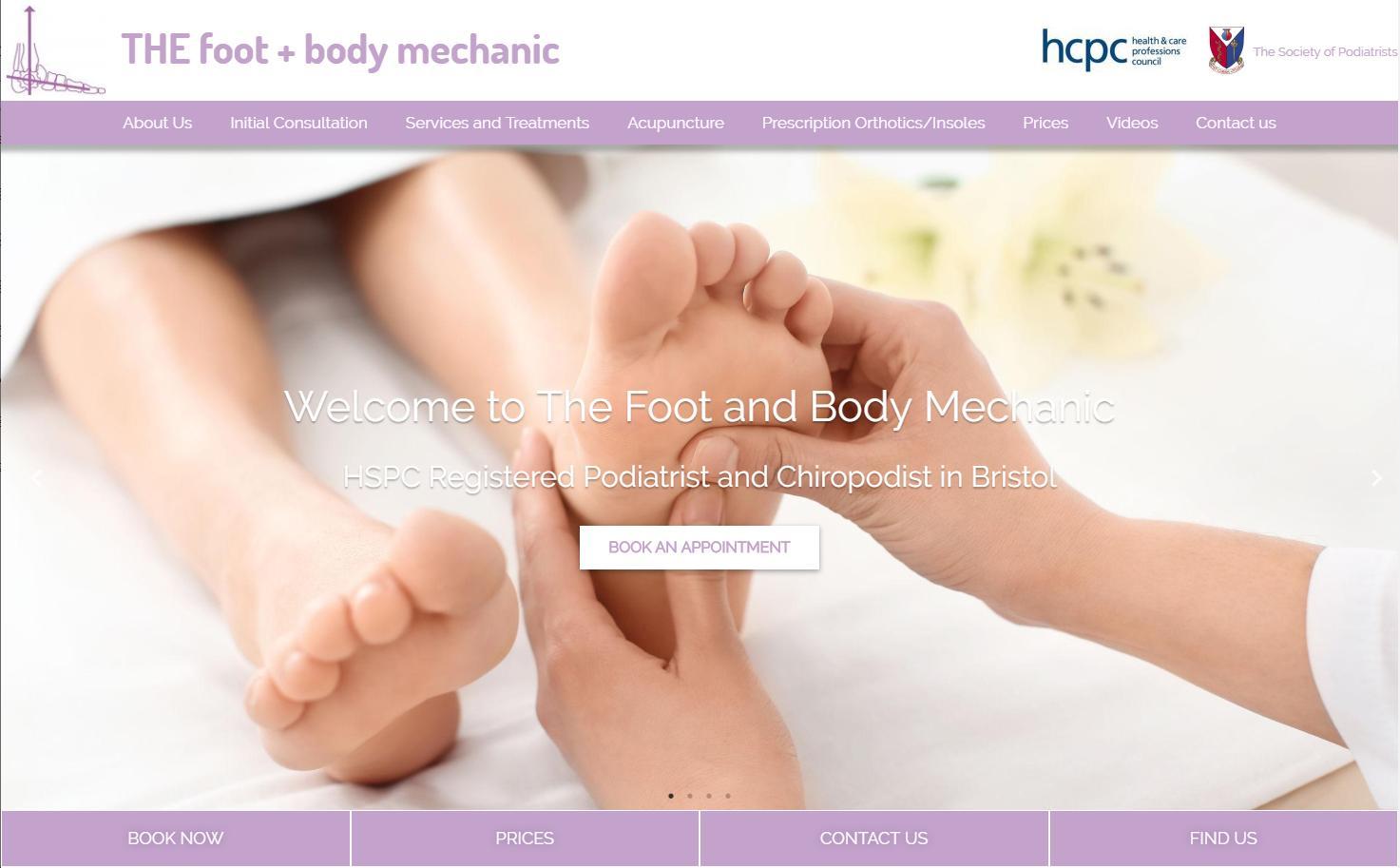 The Foot + Body Mechanic website re-design 4