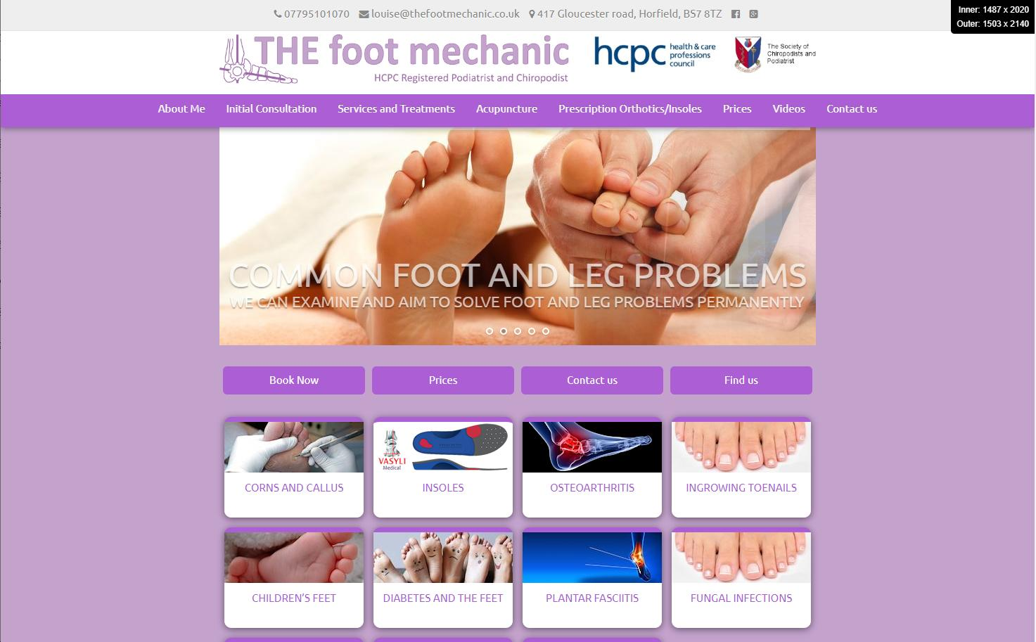 The Foot + Body Mechanic website re-design 5