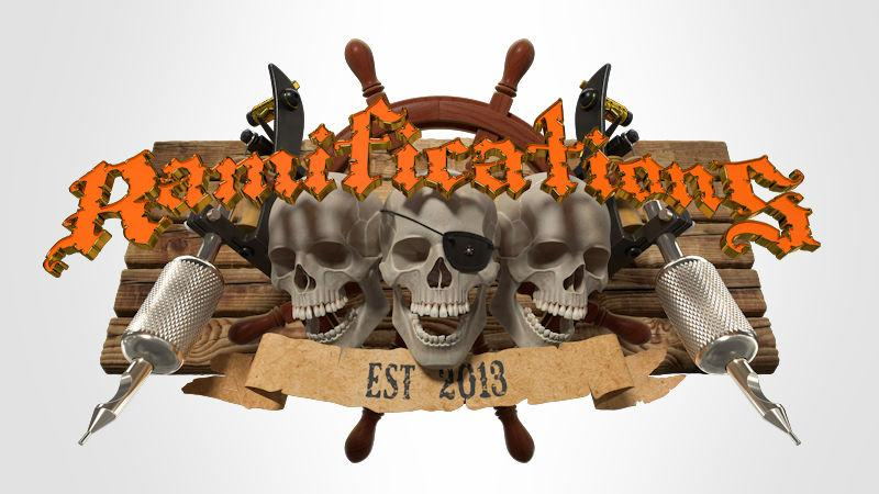 Logo design for Ramifications tattoo studio 2