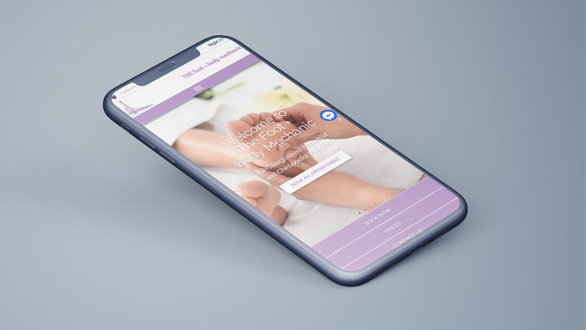 The Foot + Body Mechanic website re-design 3
