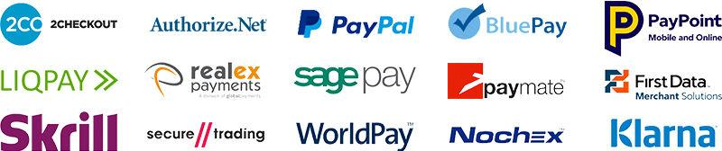 image of e-commerce website payment vendors