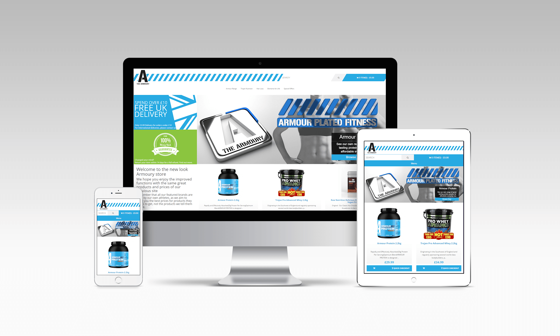 image of freelance web design project in bristol sarafan sports shop