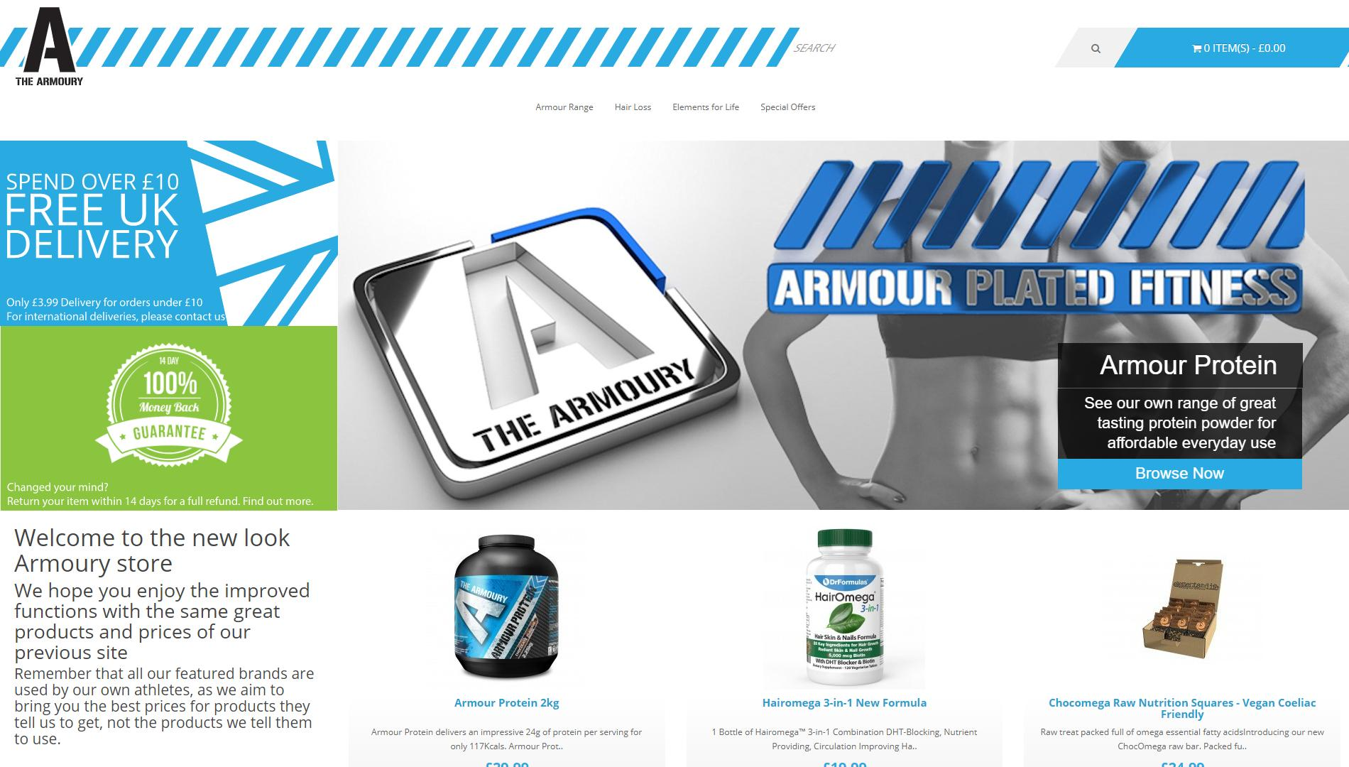 Shop Sarafan Sports website (The Armoury) 1