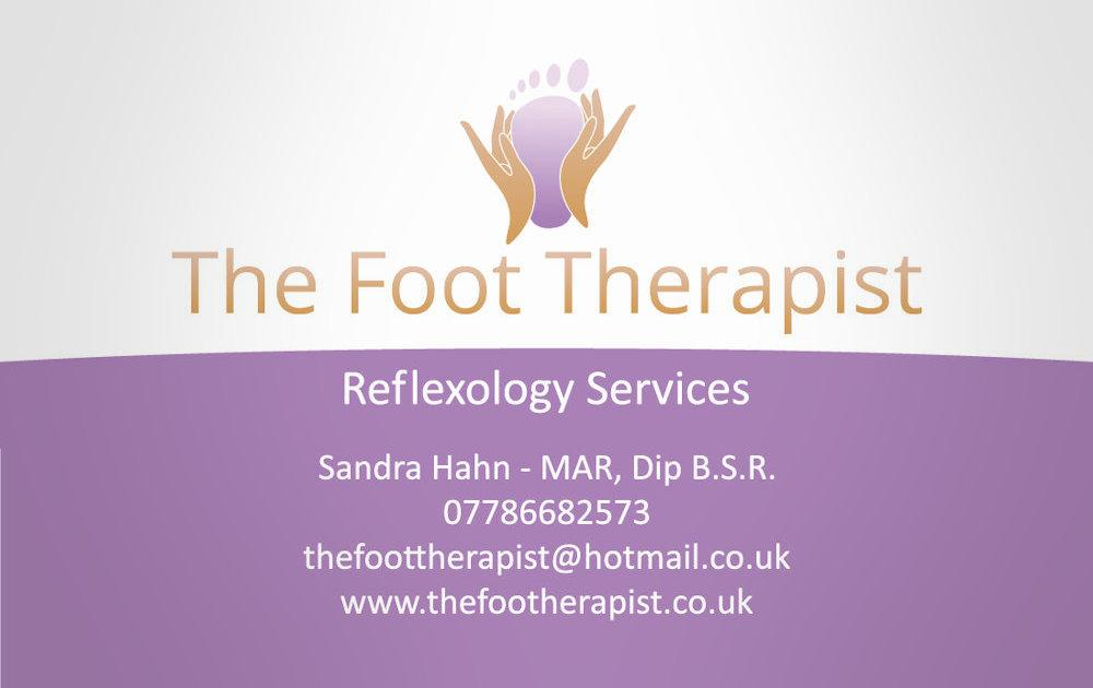 Business card design and supply - The Foot Therapist 2