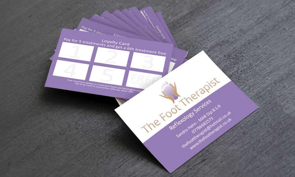 Business card design and supply - The Foot Therapist 1