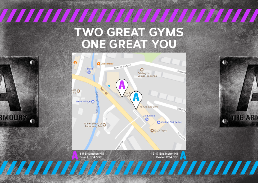 Gate Leaflet design for The Armoury Gym 2
