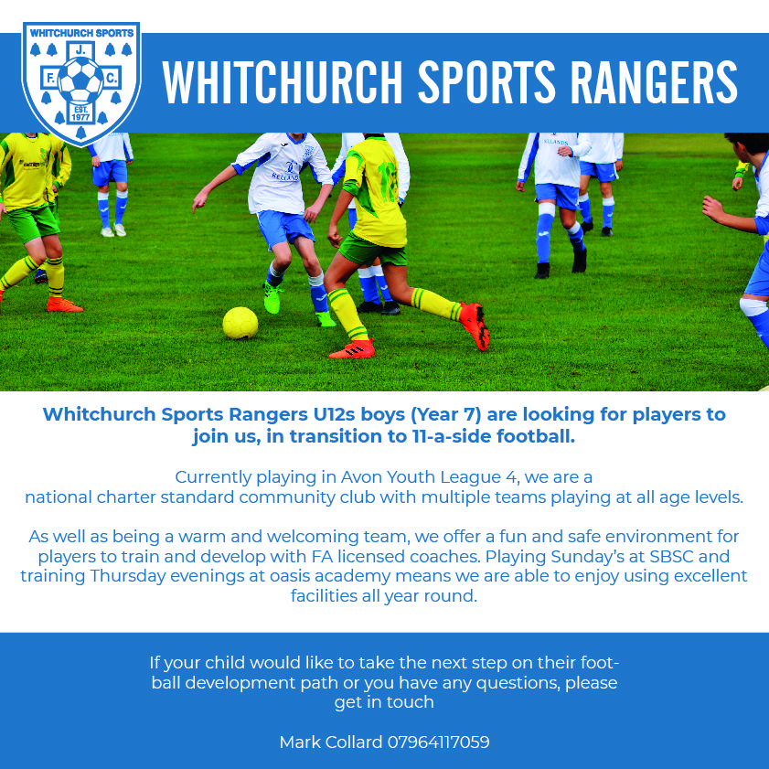 Whitchurch Sports Rangers Advert 2
