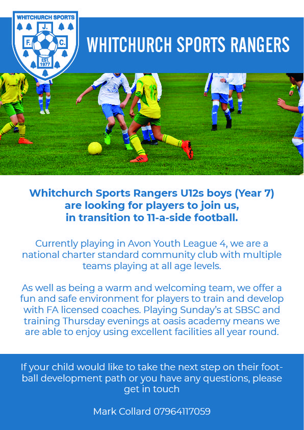 Whitchurch Sports Rangers Advert 1