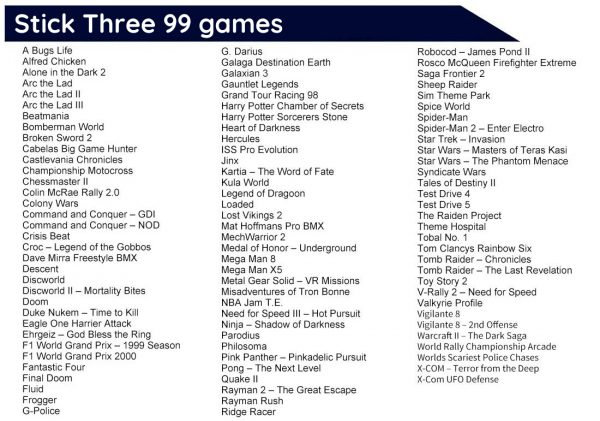 Sony PlayStation Classic 359 Extra Games 4