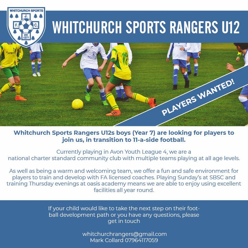 Whitchurch Sports Rangers Advert 3