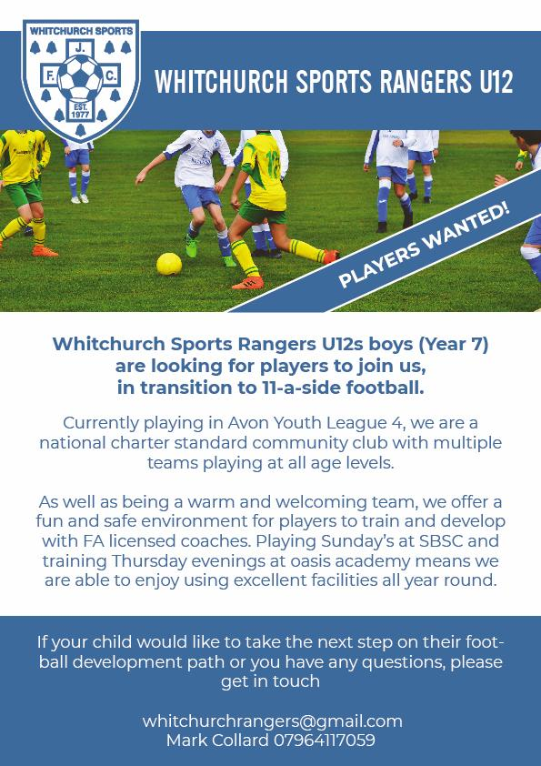 Whitchurch Sports Rangers Advert 4