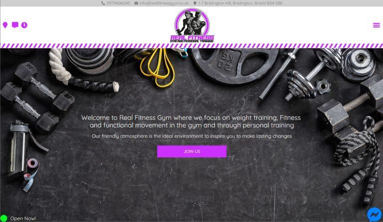 real-fitness-website-design