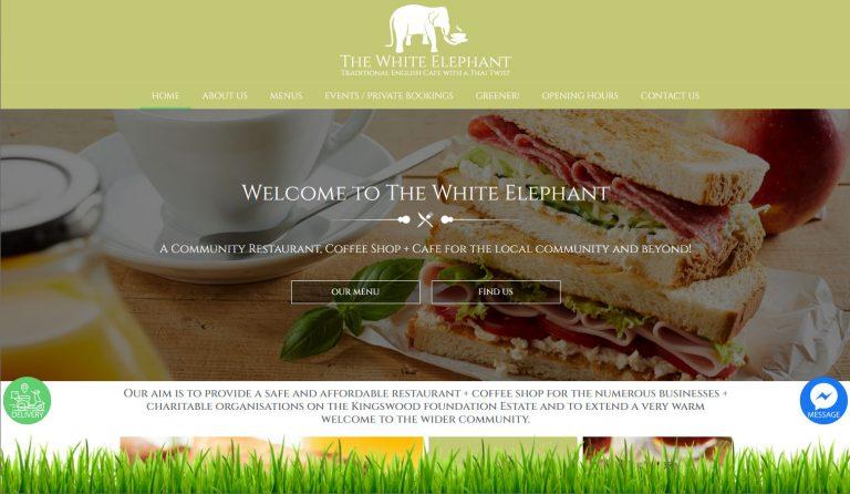 white-elephant-cafe-website-design
